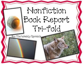 tri fold book report nonfiction book report phlet tri fold brochure by the