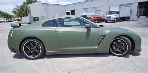 nissan gtr wrapped custom nissan gtr matte car wrap miami florida