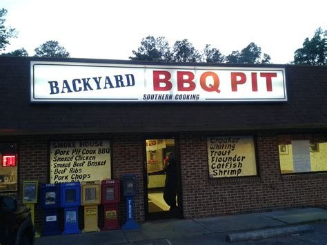 backyard barbecue pit durham you can smell the smoke from the parking lot yelp