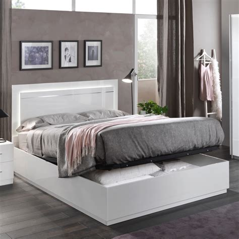 vatican city ottoman storage king size bed high gloss white kingsize  room style