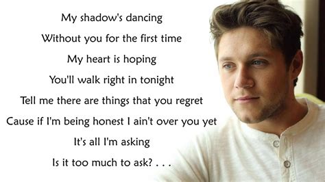 niall horan too much to ask lyrics youtube