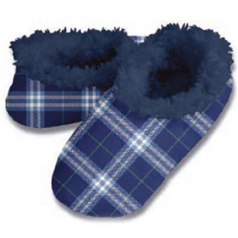 snoozies mens slippers snoozies s blue white plaid slipper s xl no skid