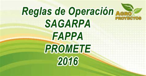 reglas de operacion para el programa prospera 2016 reglas de operacion sagarpa fappa promete 2016