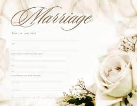marriage certificate templates free marriage certificate template formats exles in word