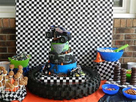 monster truck jam party supplies monster jam party monster truck party pinterest