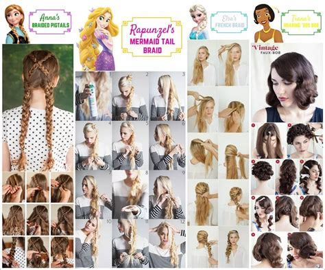 Disney Princess Hairstyle by 10 Beauteous Disney Princesses Inspired Hairstyles
