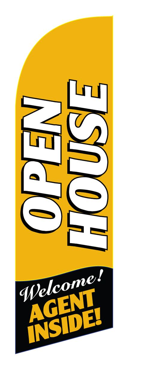 real estate open house flags feather flags custom swooper flags banner flutter flags advertising flags open