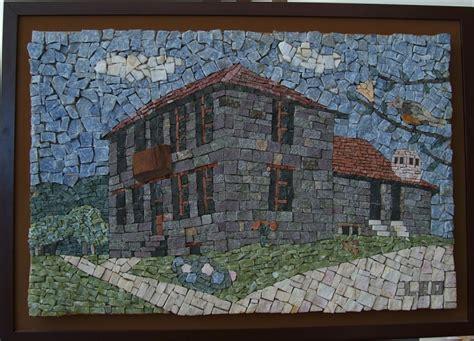 mosaico casa mosaico quadro em mosaico casa di pietra 50x80