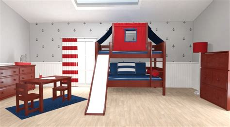 bunk beds with slides boys bedroom transformation with maxtrix maxtrix