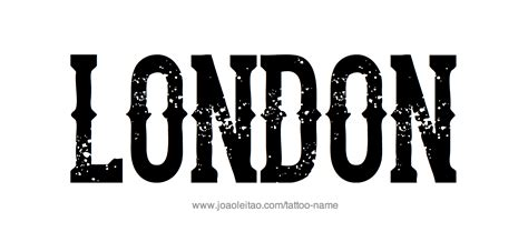 london name tattoo designs