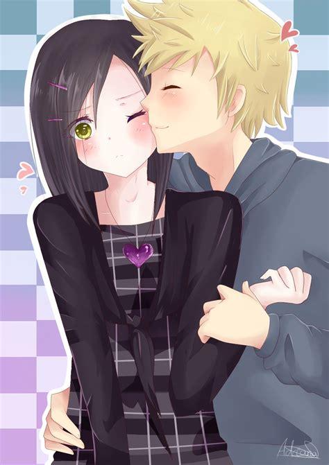 anime cheek kiss cheek kiss by cat heart on deviantart