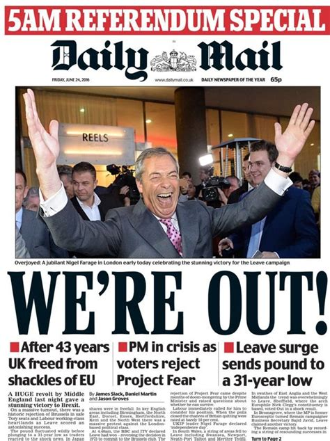 news latest headlines photos and videos daily mail online brexit shocker newspaper front pages from around the