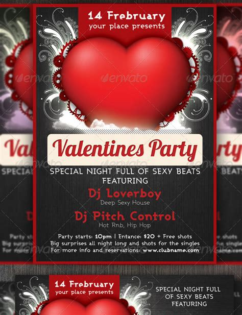 best valentines day party flyer 56pixels com