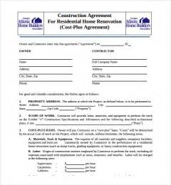 site agreement template sle construction agreement template 6 free documents