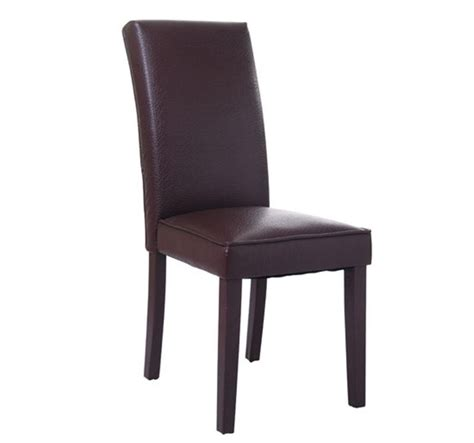 dining room parsons chairs homcom pu leather parsons dining chair brown