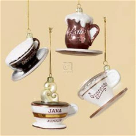 Amazon.com   GLASS COFFEE CUP ORNAMENT SET OF 4   Christmas Ornament   Decorative Hanging Ornaments