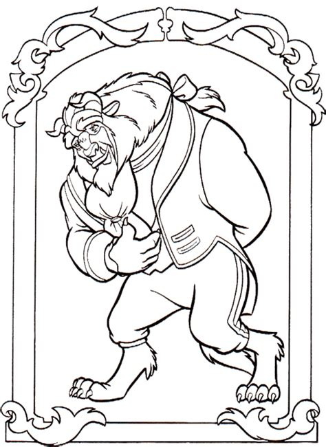coloring pages disney and the beast disney s and the beast colouring sheets