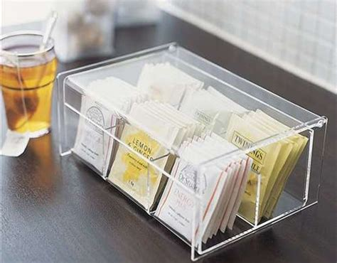 tea organization transparent tea box home organization pinterest