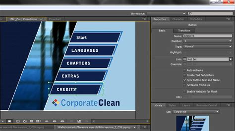 adobe encore psd menu