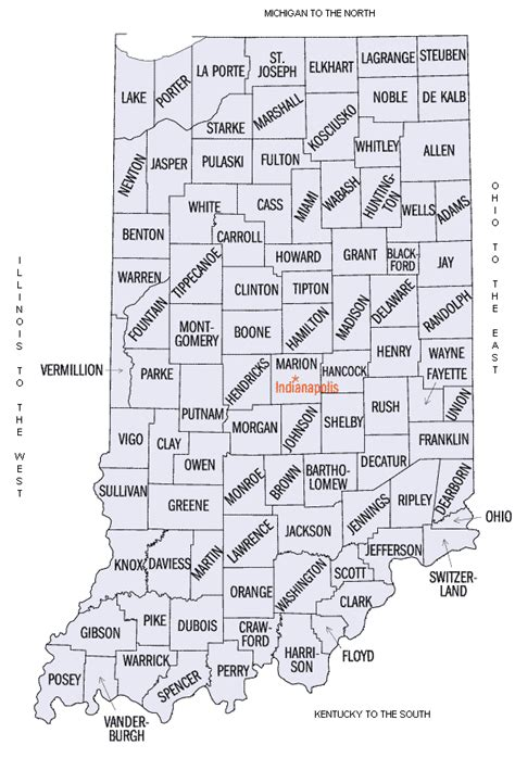 map of indiana counties indiana county map