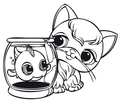 Pez Y Gatito Littlest Pet Shop Dibujalia Dibujos Para Dibujos De Pet Shop Y Con Color