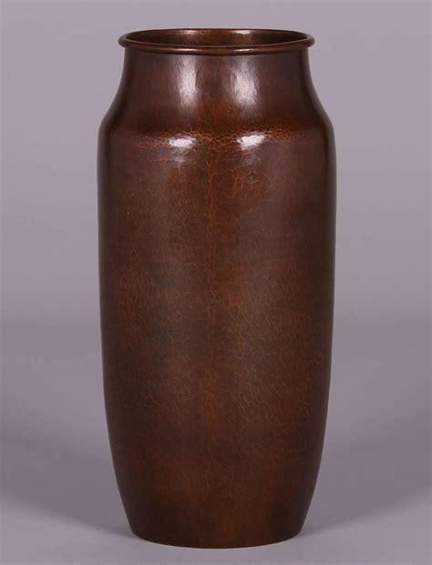 large dirk erp hammered copper 15 5 quot vase c1932