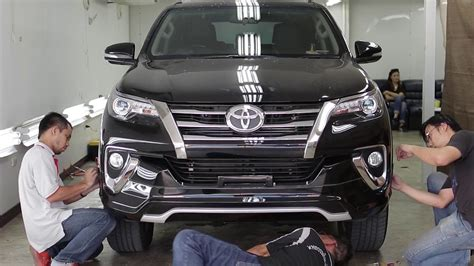 new fortuner 2016 youtube 2016 toyota fortuner body kit 2016 toyota ช ดแต ง all new fortuner 2016 bodykits by fiar design