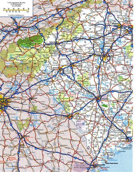 map carolina highways highway map of south carolinafree maps of us