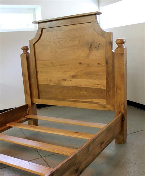 oak twin bed solid reclaimed oak twin bed ecustomfinishes