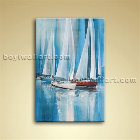 boat canvas wall art impressionist painting seascape oil canvas wall art