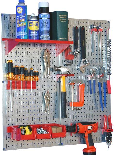 tools organizer garage wall master workbench metal pegboard tool