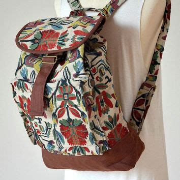 Nepali Handmade Bags - nepali hippie backpack boho book bag from dollypun on etsy