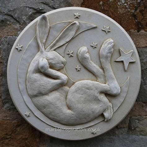 Hare In Moon Wall Plaque Garden Wall Plaques Find Animal Garden Wall Plaques Uk