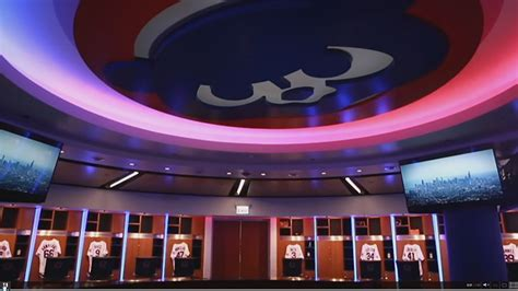 cubs locker room inside the new chicago cubs clubhouse chicago tonight wttw