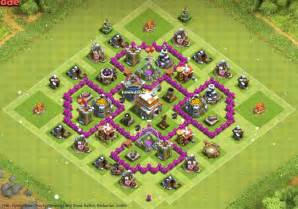 Th6 hybrid base trophy farming anti giant ballon barbarian