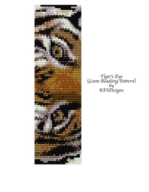 loom beading patterns free loom beading pattern tigers eye buy 2 patterns get a