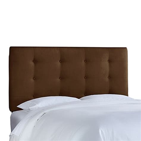 Skyline Furniture Tufted Headboard Buy Skyline Furniture California King Button Tufted Headboard In Premier Chocolate From Bed Bath
