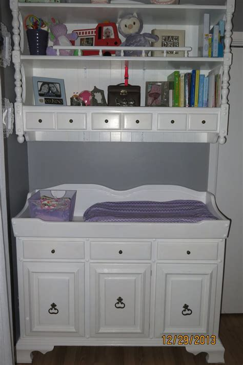 baby changing dresser with hutch diy hutch change table purple grey nursery baby
