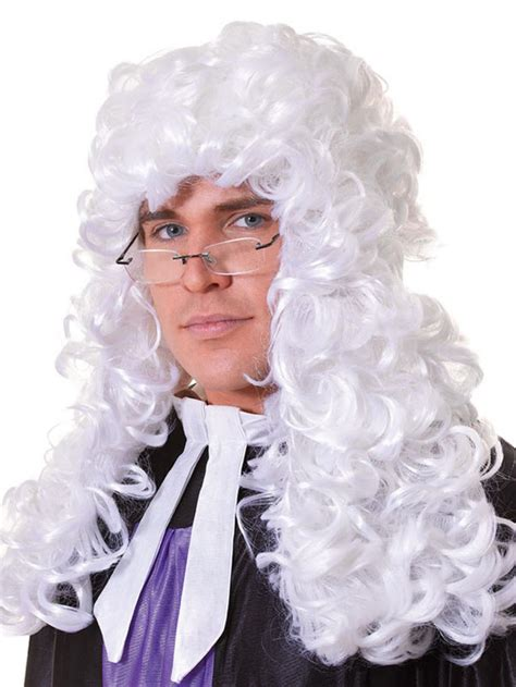 male wigs variety of colours fancy dress accessory 50 s 60 mens halloween white court barrister judge lawyer wig hair