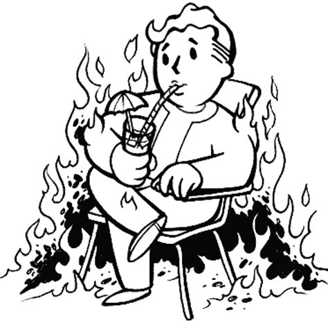 pip boy coloring page user 03 flaming vault boy gif