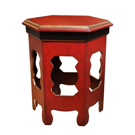 red accent tables zeckos odelon distressed red finish accent table 24 inches