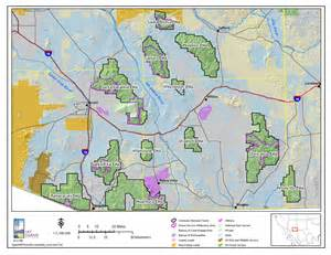 arizona national forest map new coronado national forest management plan in the works