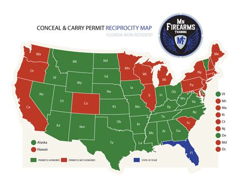 reciprocity map carry permit maps mn firearms