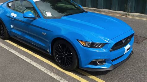 light blue mustang gt 2017 grabber blue mustang gt pre delivery check