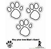 Bear Paws Colouring Pages