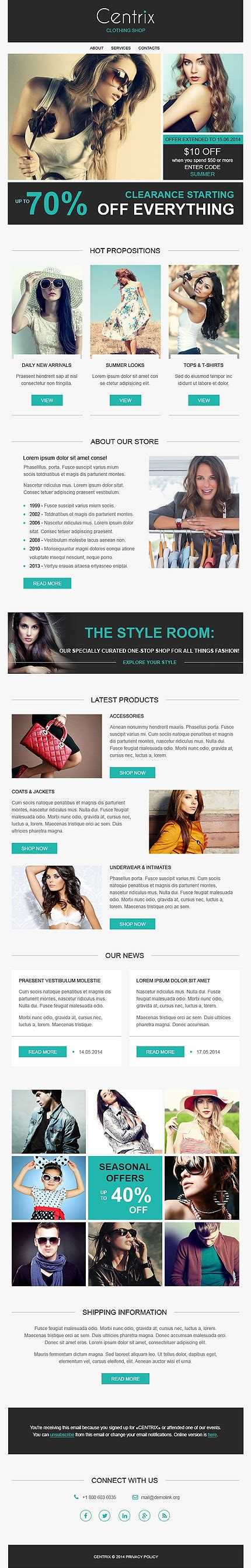 responsive newsletter template responsive newsletter templates for effective email