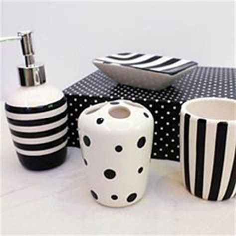 Polka Dot Bathroom Accessories Black White Polka Dot Bathroom Accessory Tissue Box Wastebasket Bath Decor Polka Dot