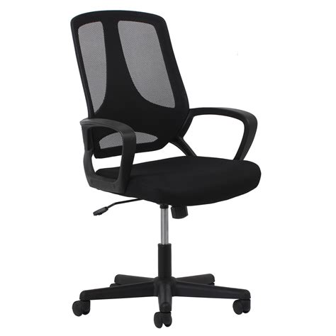 Swivel Mesh Task Chair With Arms Black Swivel Task Chair