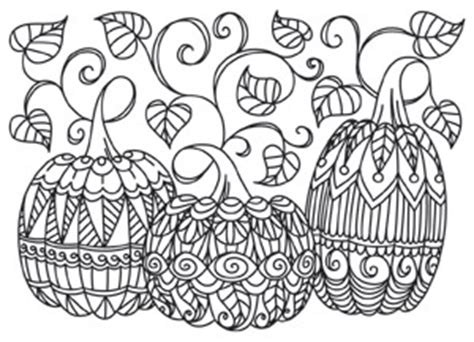 Intricate Pumpkin Coloring Pages | patterned pumpkins urban threads unique and awesome