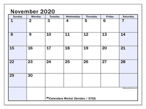 november  calendars ss michel zbinden en